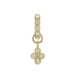 Petite Diamond Quad Charm Yellow Gold
