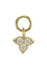 Jude Frances Yellow Gold Petite Moroccan Trio Diamond Charm