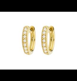 Jude Frances Yellow Gold Diamond Huggies