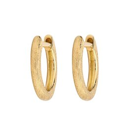 Plain Delicate Gold Hoops-YG