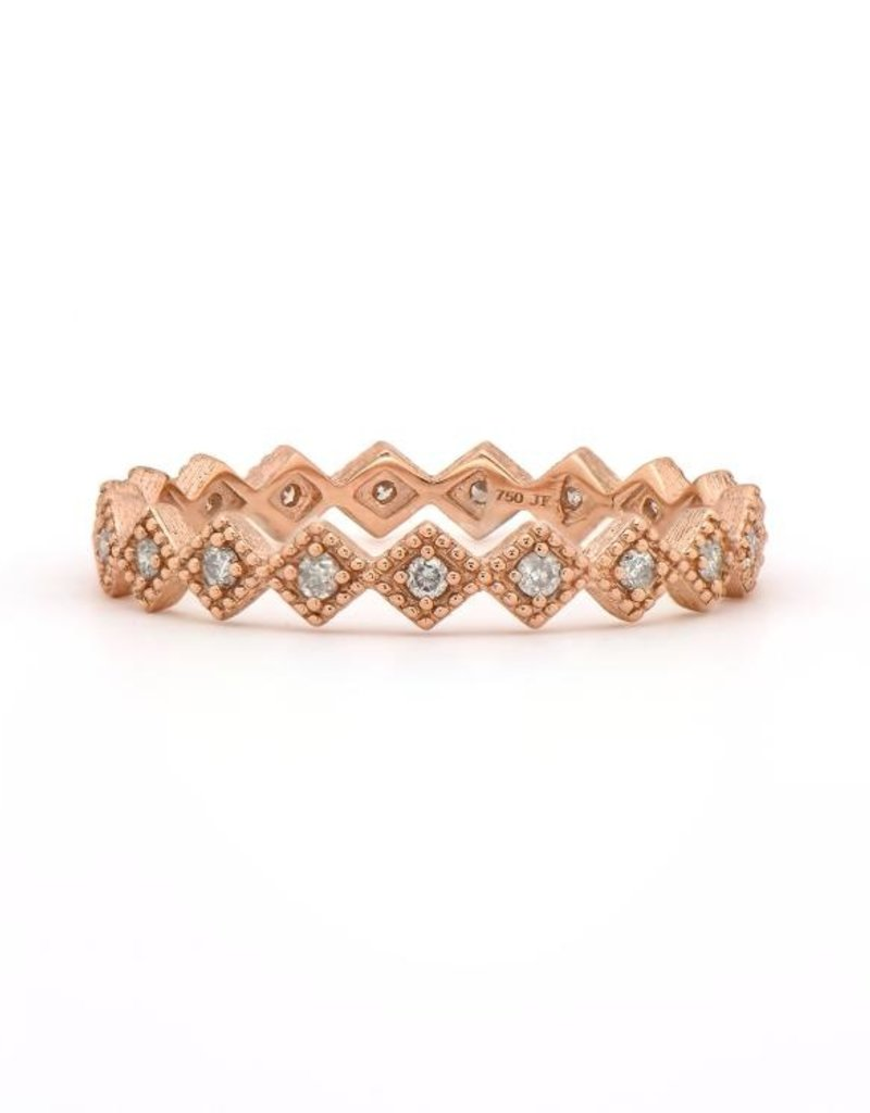 Jude Frances Rose Gold Petite Diamond Kite Band