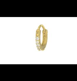 Jude Frances Yellow Gold Petite Pave Diamond Hoop