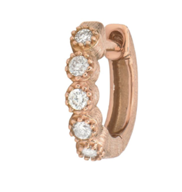 Jude Frances Rose Gold Petite Diamond Bezel Hoop