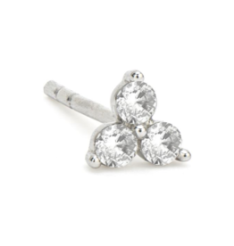 Jude Frances White Gold Petite Diamond Trio Stud