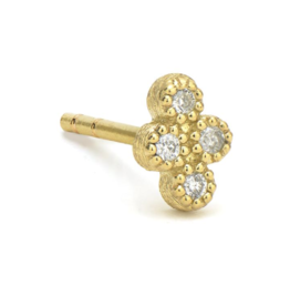 Jude Frances Yellow Gold Petite Diamond Quad Stud