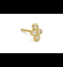 Jude Frances Yellow Gold Petite Diamond Quad Stud
