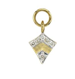 Jude Frances Yellow Gold Petite Pave Diamond Kite Charm