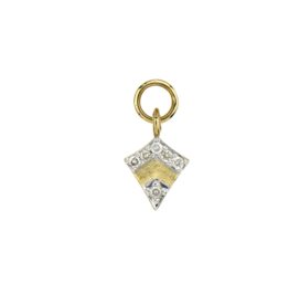 Yellow Gold Petite Pave Diamond Kite Charm