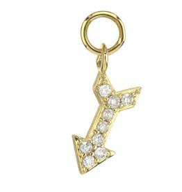 Jude Frances Yellow Gold Petite Pave Diamond Arrow Charm