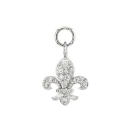 Jude Frances Petite Diamond Fleur De Lis Charm