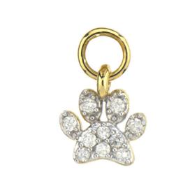 Jude Frances Petite Diamond Paw Charm