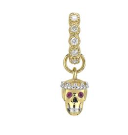 Jude Frances Petite Ruby Skull Charm