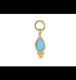 Petite Turquoise Pear Quad Charm