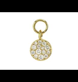 Yellow Gold Petite Diamond Circle Charm