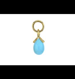 Jude Frances Petite Turquoise Briolette Charm