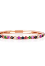 EF Collection Diamond Rainbow Eternity Band Ring - Rose Gold