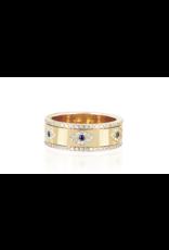 EF Collection Multi Diamond Evil Eye Spinning Ring