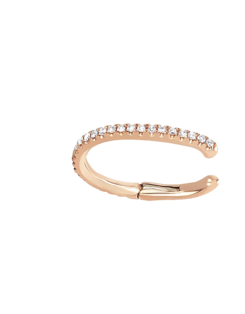 EF Collection Diamond Large Ear Cuff- Rose Gold