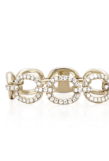 EF Collection Yellow Gold and Diamond Chain Link Ring- Size 6