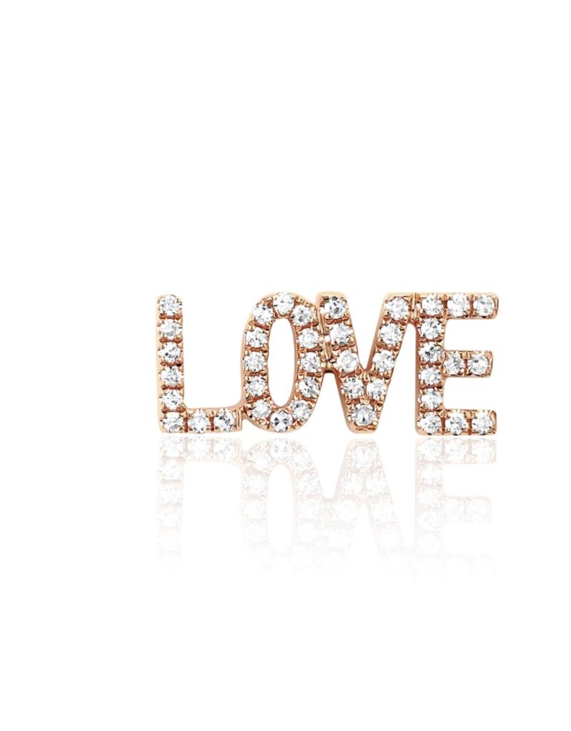 EF Collection Diamond Love Stud- Single