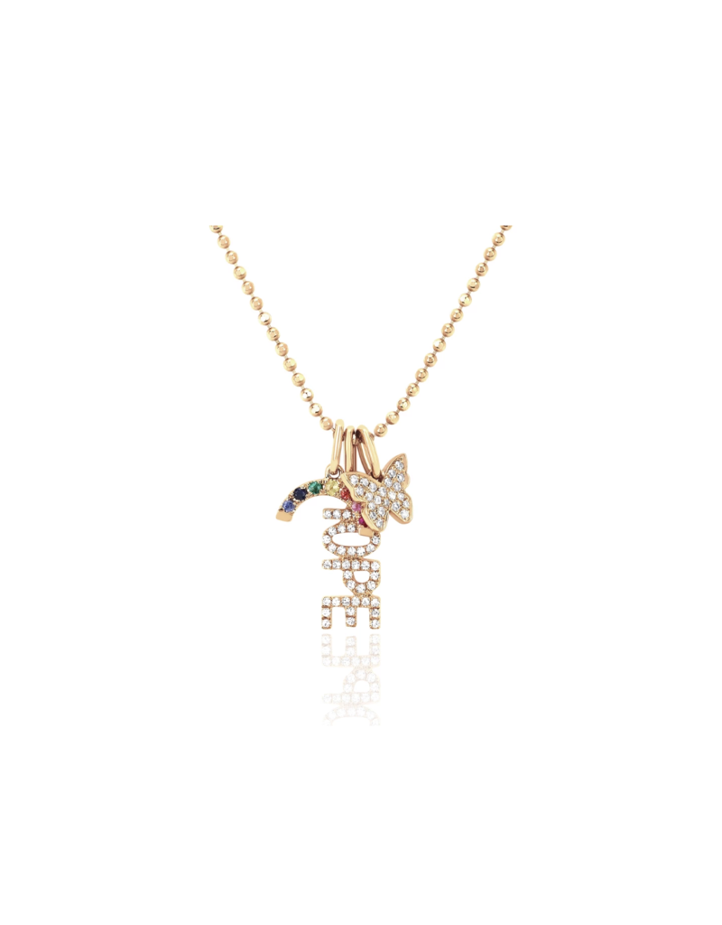 EF Collection Diamond Hope Charm Necklace