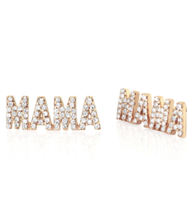 EF Collection Diamond MAMA Stud Earring