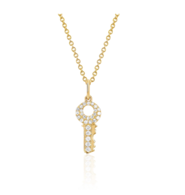 EF Collection Mini Diamond Key Necklace