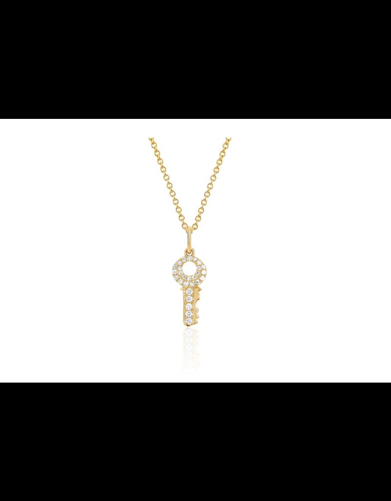 EF Collection Mini Diamond Key Necklace