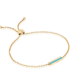 EF Collection Diamond and Turquoise Enamel Friendship Bracelet