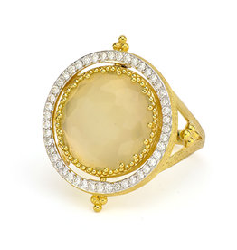 Jude Frances Large Provence Pave Halo Spinning Ring