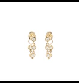 Five Link Diamond Drop Chain Earrings