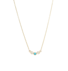 Zoe Chicco Turquoise and White Diamond Necklace