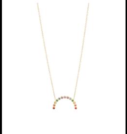 Zoe Chicco 14k Medium Rainbow Sapphire Arc Necklace