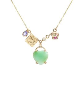 Scosha Lucky Charms Heart Pendant Diamond Necklace