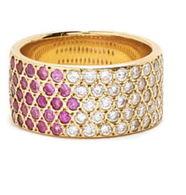 Scosha Louisa Ring with Diamonds and Rubies