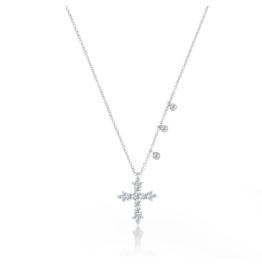 Meira T .43 Diamond Cross Necklace