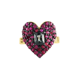 Eden Presley 14KY Love Luck 2.53ct Rubies & 1.07cts Spinel Center Ring