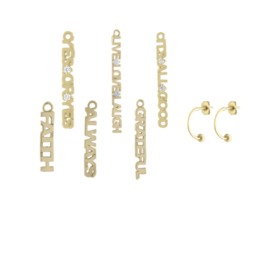 "Eden Presley 14KY ""Its All Good"" Diamond Earring Charm Single"