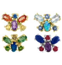 Eden Presley 14KY Aqua Butterfly Studs 1.94 cts