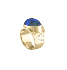 Eden Presley 14KY Boulder Opal Galaxy Ring