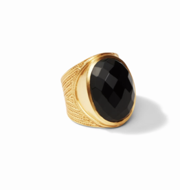 Julie Vos Gold Black Onyx Verona Statement Ring- Size 7