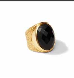 Julie Vos Gold Black Onyx Verona Statement Ring- Size 7