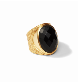 Julie Vos Gold Black Onyx Verona Statement Ring- Size 8