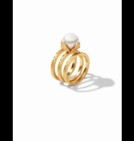 Julie Vos Penelope Set Gold Pearl Size 7