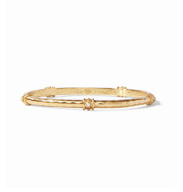 Julie Vos Savannah Bangle Gold Pearl Large