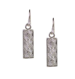Sterling Silver Dharma Earrings