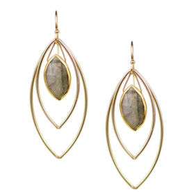 Labradorite Halley Earrings