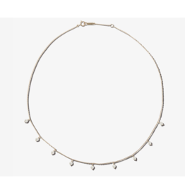 Mizuki 14 KY Spaced Pearl Drop Necklace