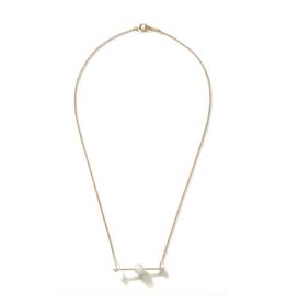 Mizuki Sliding Pearl Bar Necklace