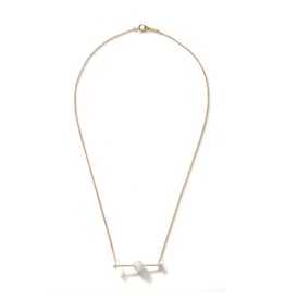 Sliding Pearl Bar Necklace